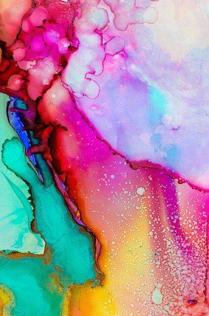 buntes abstraktes Aquarell