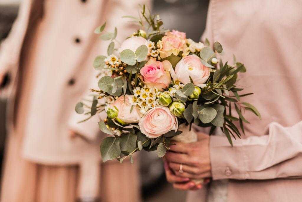 Brautstrauß in wundervollen Pastelltönen