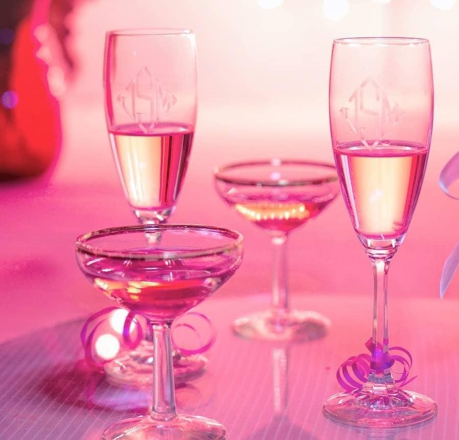 rosafarbene Cocktails