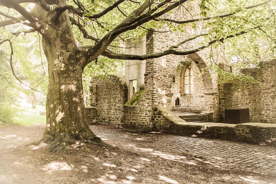 Die Sylvesterkapelle ist eine romantische Hauskapellenruine ohne Dach